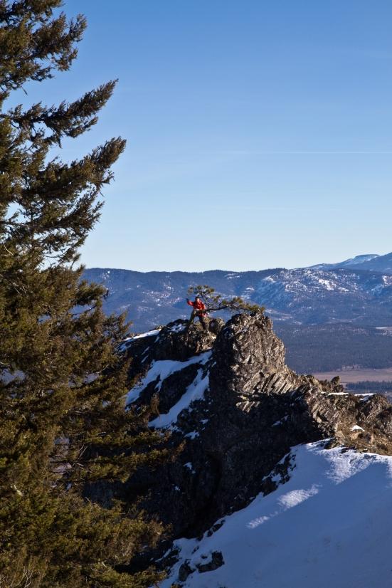 Hubs climbing a small peak