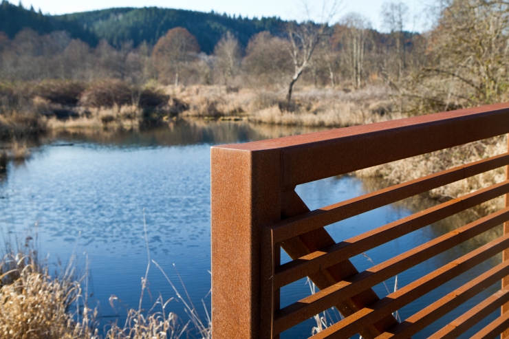 Small bridge over pond
