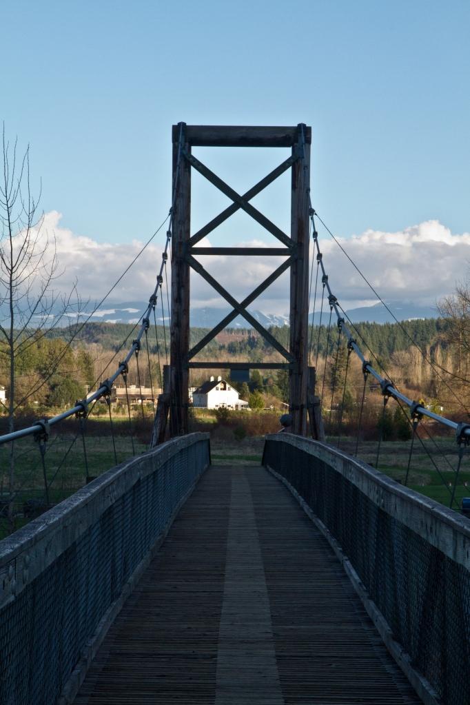 Looking back across footbridge